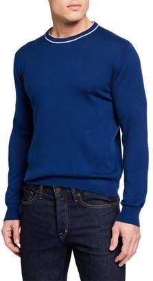 Neiman Marcus Il Borgo for Men's Contrast Crewneck Sweater