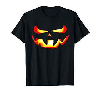 Scary Face Halloween Costumes Funny Pumpkin Gift T Shirt