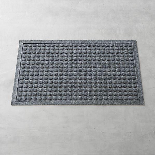 """Crate & Barrel Thirsty DotsTM Grey 34""""x22"""" Doormat"""