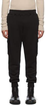 Alanui Black Cotton Cashmere Cargo Pants