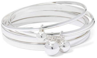 Liz Claiborne Charm Silver-Tone 5-pc. Bangle Set