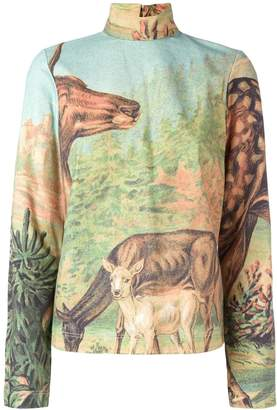 Walter Van Beirendonck Pre-Owned deer print top