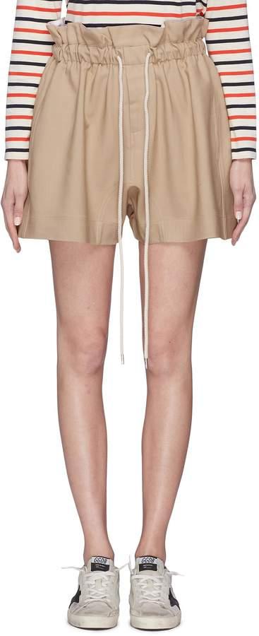 Drawstring paperbag suiting shorts