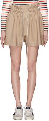 Bassike Drawstring paperbag suiting shorts