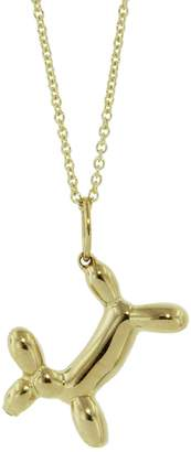 Sydney Evan Balloon Dog Necklace - Yellow Gold
