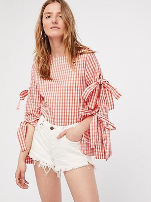 Gingham Top With Sleeve Detail by Style Mafia at Free People $129 thestylecure.com