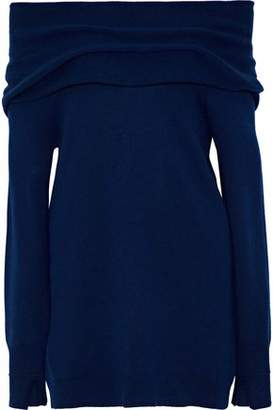 Halston Off-The-Shoulder Wool And Cashmere-Blend Sweater