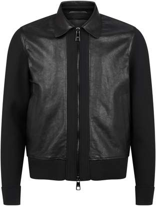 Neil Barrett Contrast Sleeve Leather Jacket