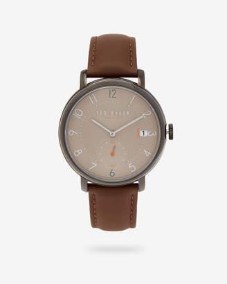 Ted Baker OSCARP Leather strap watch