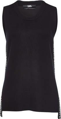 Karl Lagerfeld Paris Sleeveless Cashmere Top