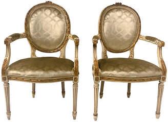 One Kings Lane Vintage Giltwood French Armchairs,Pair - Von Meyer Ltd.