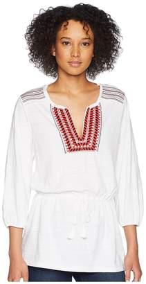Lauren Ralph Lauren Bohemian Embroidered Blouse Women's Blouse