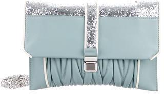 Miu MiuMiu Miu Glitter-Embellished Matelassé Crossbody Bag