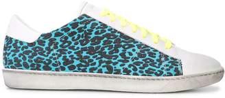 Amiri blue leopard print sneakers
