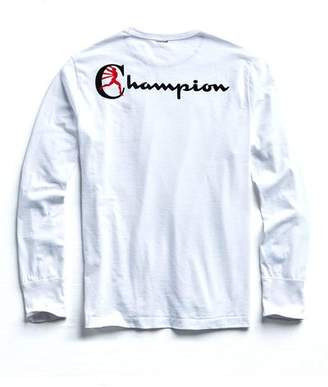 Todd Snyder + Champion Champion Long Sleeve Back Graphic in White