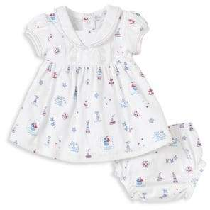 Kissy Kissy Baby's Nautical Dress& Diaper Cover Set