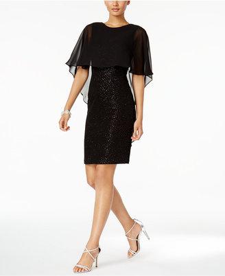 Betsy & Adam Cape Sheath Dress $179 thestylecure.com