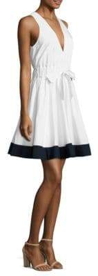 Milly Lola Fit-And-Flare Poplin Dress