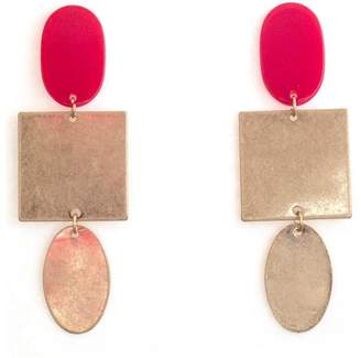 Tselaine Red Metal Earring