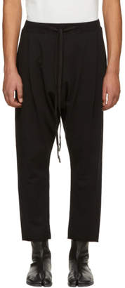 Nude:mm Black French Terry Cropped Trousers