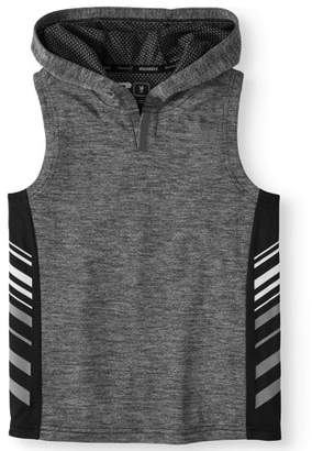 Russell Boys' Sleeveless Performance Hooded Top