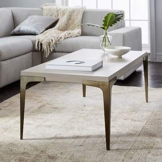 west elm Brass + Concrete Coffee Table