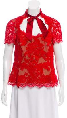Marchesa Lace Short Sleeve Top w/ Tags