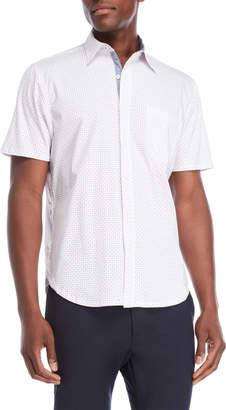 English Laundry Con.Struct Hybrid Dots Short Sleeve Shirt