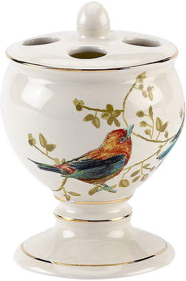 Avanti Gilded Birds Bath Toothbrush Holder