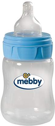 Mebby Pp Baby Bottle with Silicone Teat (150 ml, Blue)