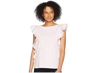 Lauren Ralph Lauren Ruffled Cotton Top Women's Clothing