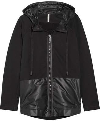 NO KA 'OI NO KA'OI Nana Cotton And Shell Hooded Jacket - Black
