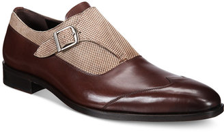 Mezlan Men's Amedeo Single Monk Mixed-Media Oxfords $295 thestylecure.com