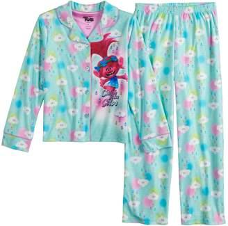 Dreamworks Girls 4-8 DreamWorks Trolls Poppy Top & Bottoms Flannel Pajama Set