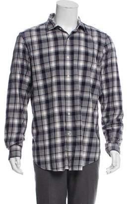 Boglioli Plaid Button-Up Shirt