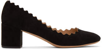 Chloé Black Suede Lauren Pumps