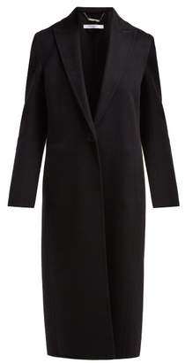 Givenchy Single Breasted Cashmere Coat - Womens - Black