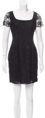 Naeem Khan Beaded Mini Dress