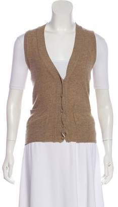 Alexander Wang Cashmere Button-Up Vest