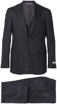 Canali plaid three piece suit
