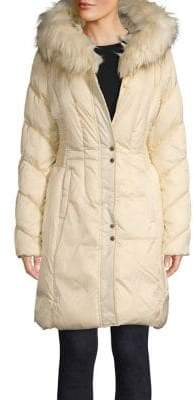 Via Spiga Faux Fur-Trimmed Quilted-Sleeve Jacket