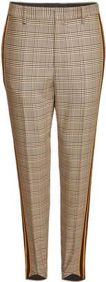 Stella McCartney Stretch Wool Glen Plaid Stirrup Pants