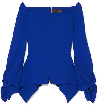 Roland Mouret Wicklow Crepe Peplum Top - Blue