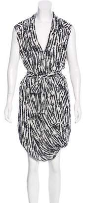 A.L.C. Abstract Print Silk Dress