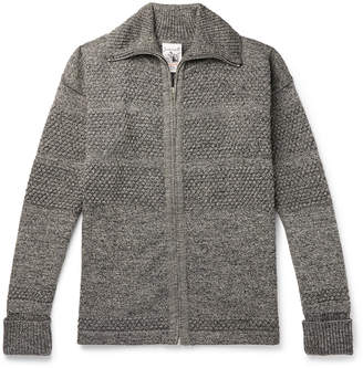S.N.S. Herning Fisherman Mélange Wool Zip-Up Cardigan