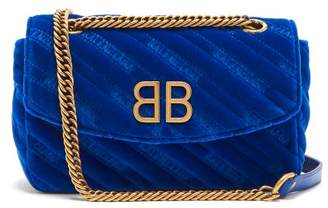 Balenciaga Bb Round Bag - Womens - Blue