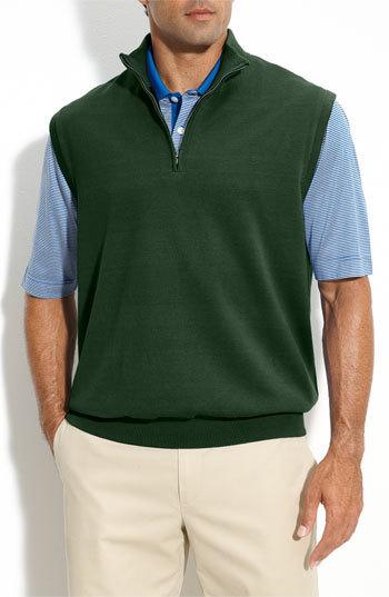 Cutter & Buck 'Sandpoint' Half Zip Golf Vest