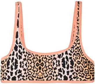 Reina Olga Reversible leopard print bikini top