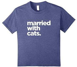 Married With Cats T-Shirt | Funny Cat T-Shirt