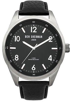 Ben Sherman (ベン シャーマン) - ベンシャーマンMen 's ' Big Carnaby Heritage ' QuartzステンレススチールandレザーCasual Watch , Color : Black ( Model : wb022ba )